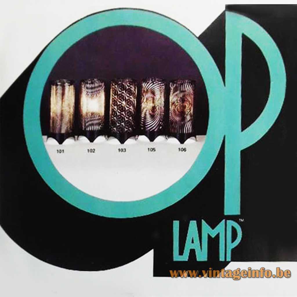 OP Motion Lamp 1975 logo