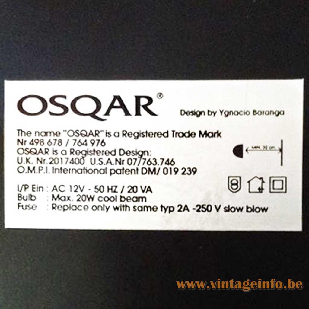 Osqar label
