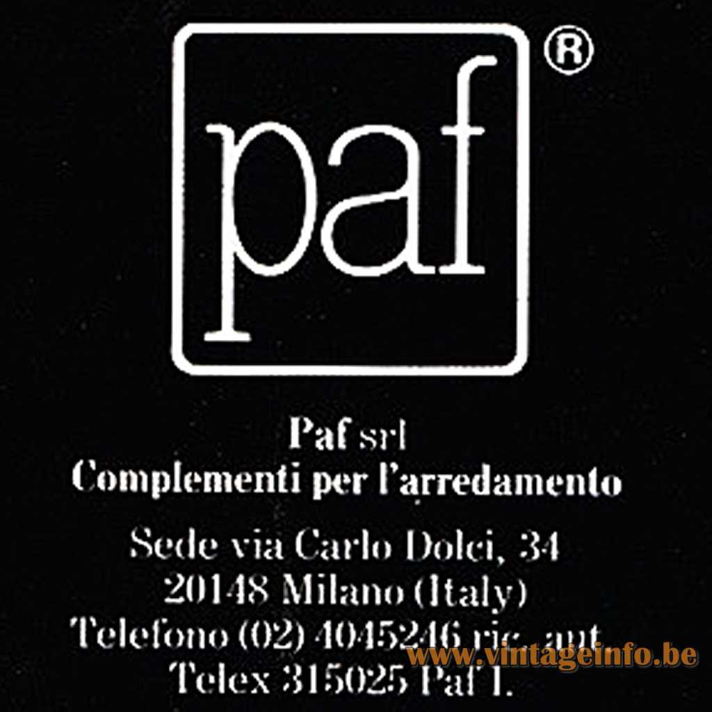 Paf Srl logo Milano
