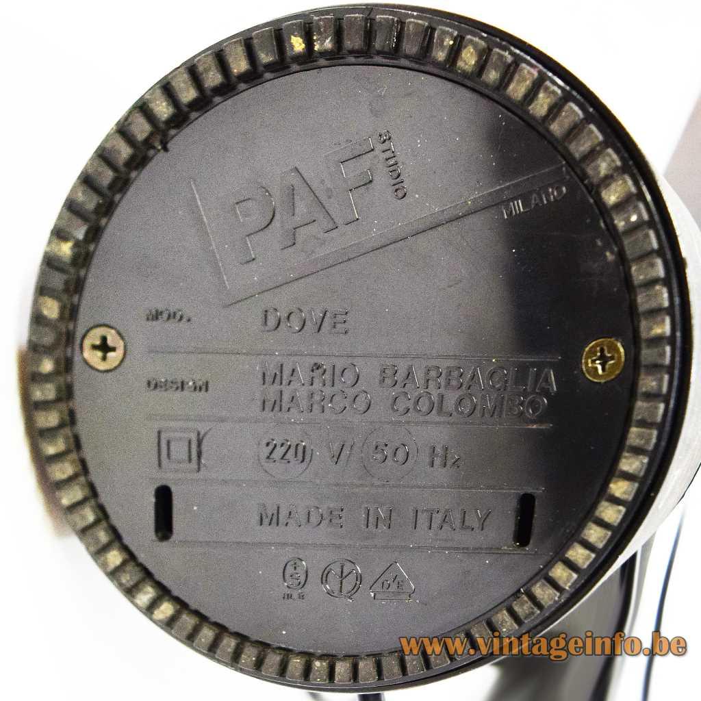 Paf Srl pressed label - logo