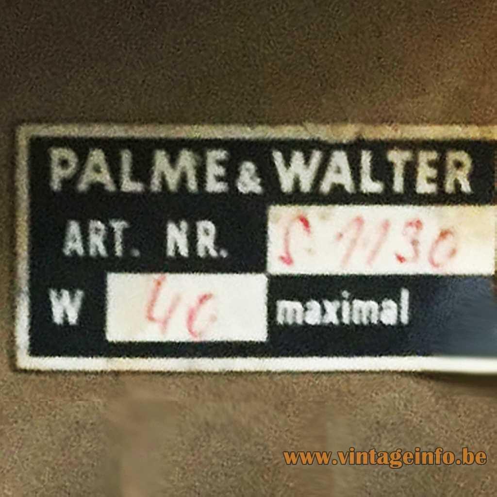 Palwa - Palme & Walter KG label