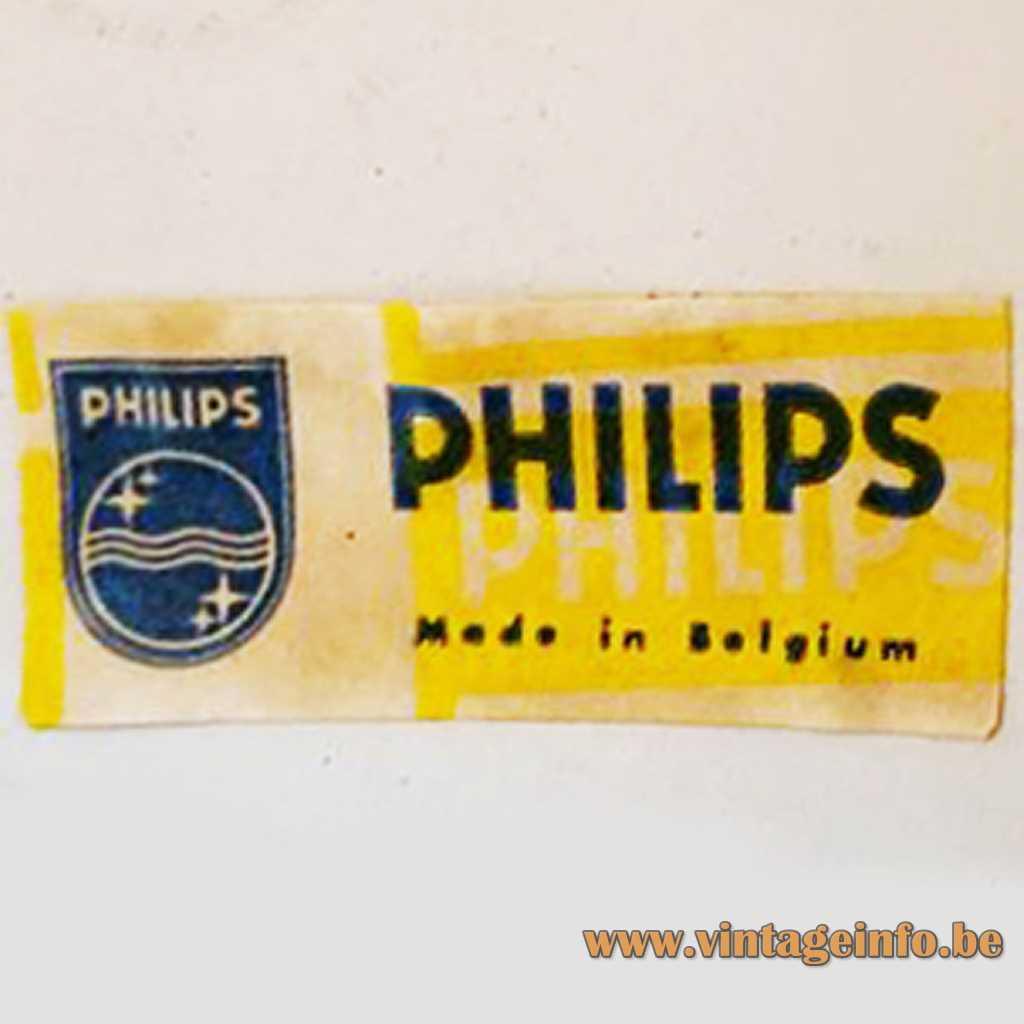 Philips Made In Belgium label