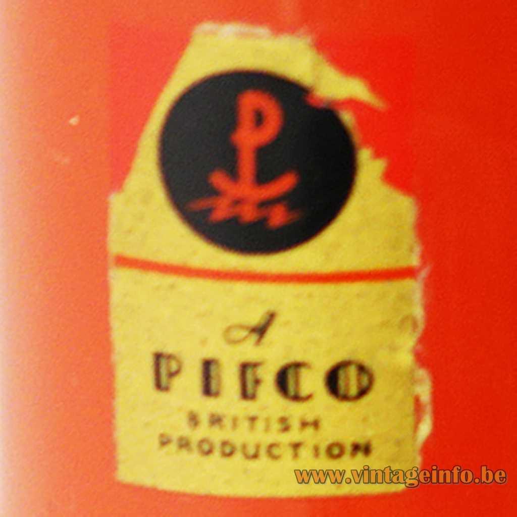 Pifco label