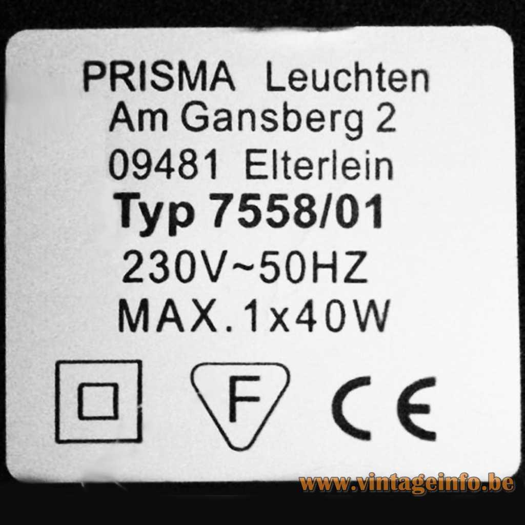 Prisma Leuchten label