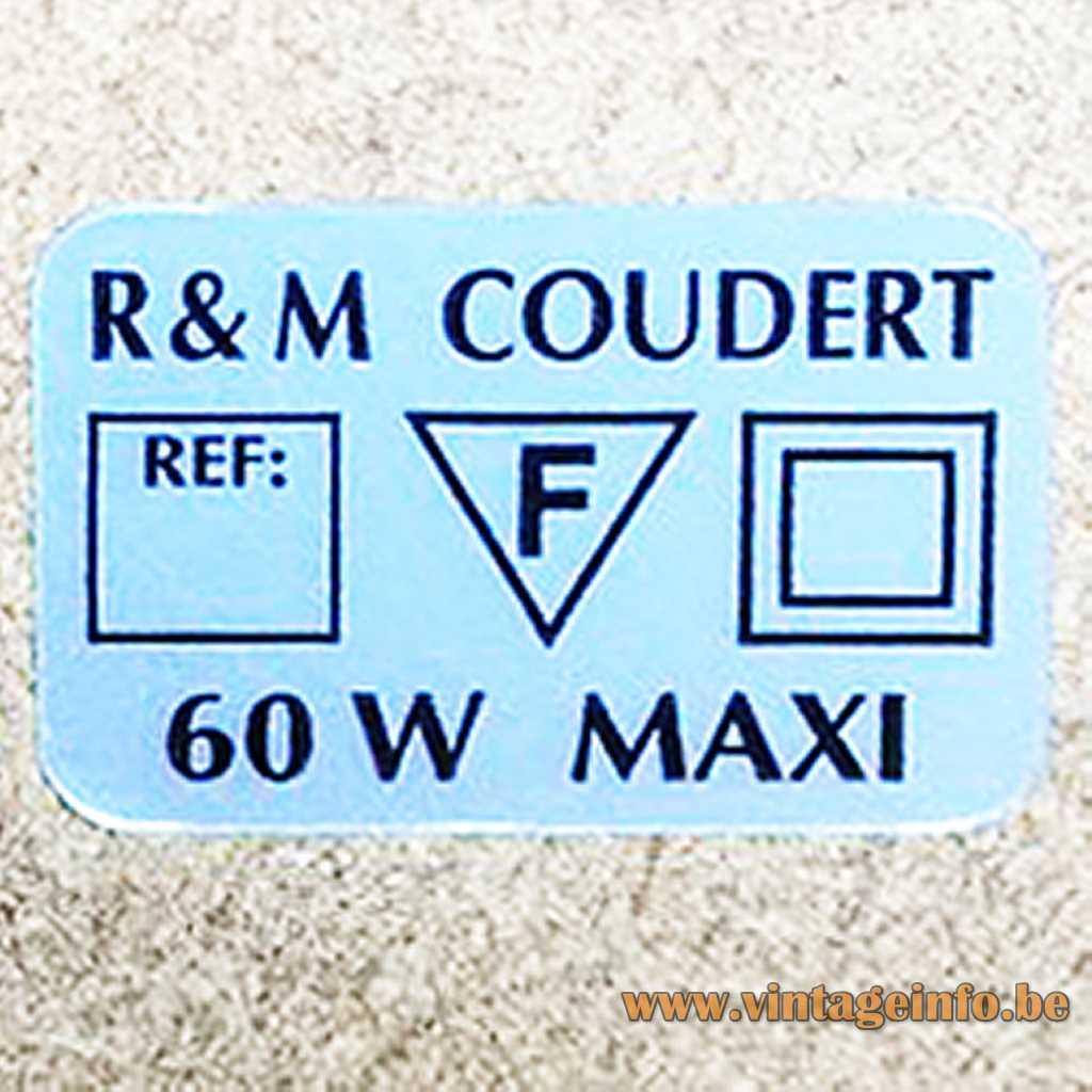 R & M Coudert label