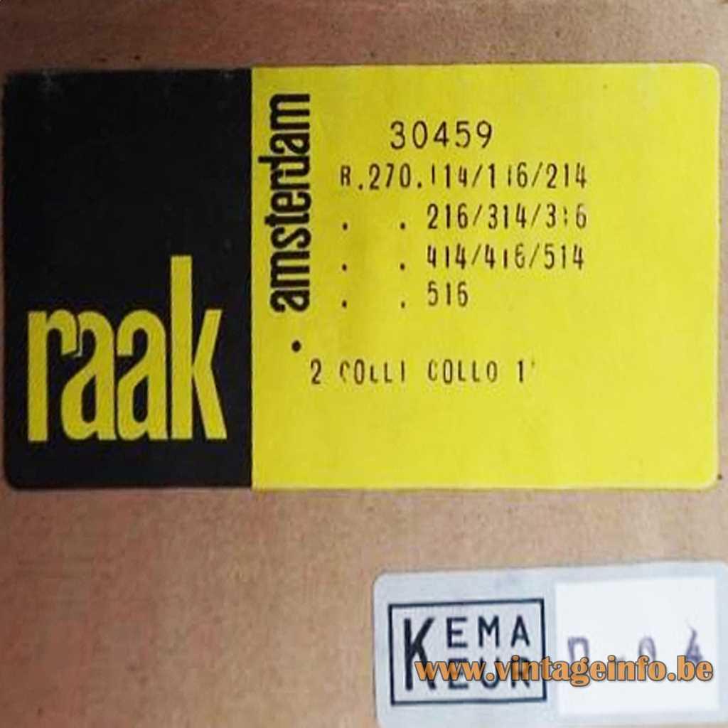 Raak Amsterdam Kema Keur Box Label