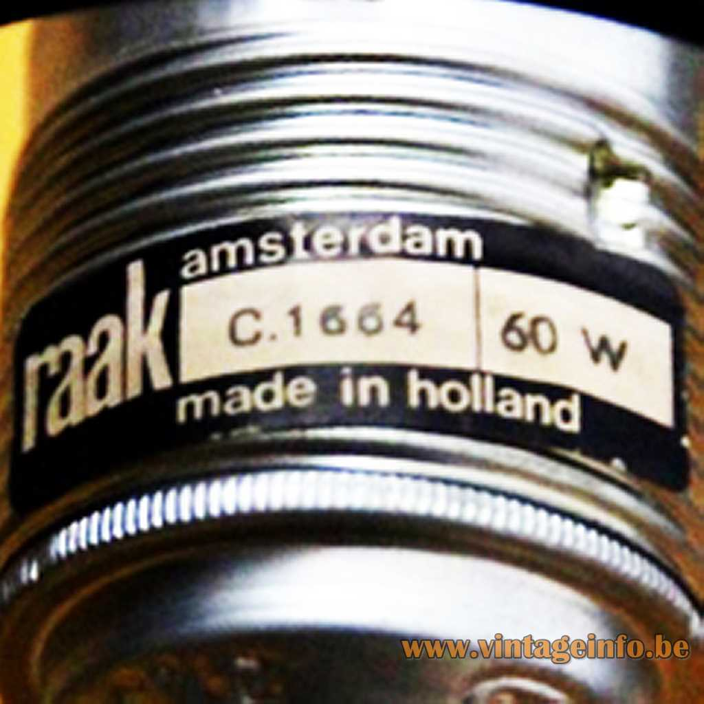 Raak Amsterdam Made In Hollad Label