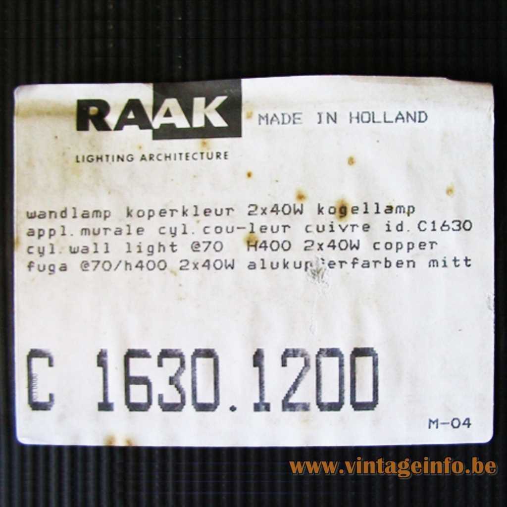Raak box label