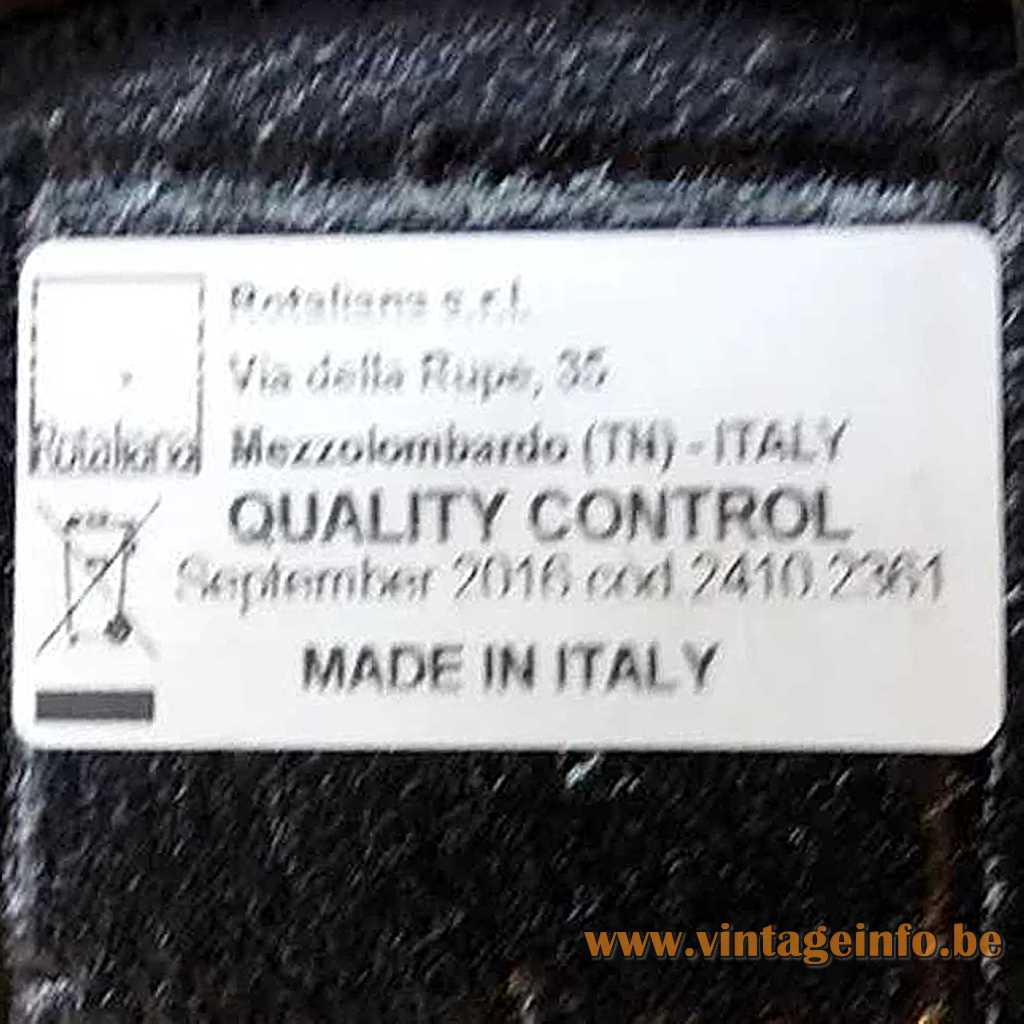 Rotaliana label