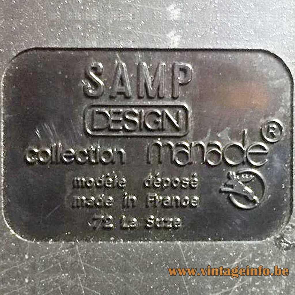 SAMP Manade pressed label
