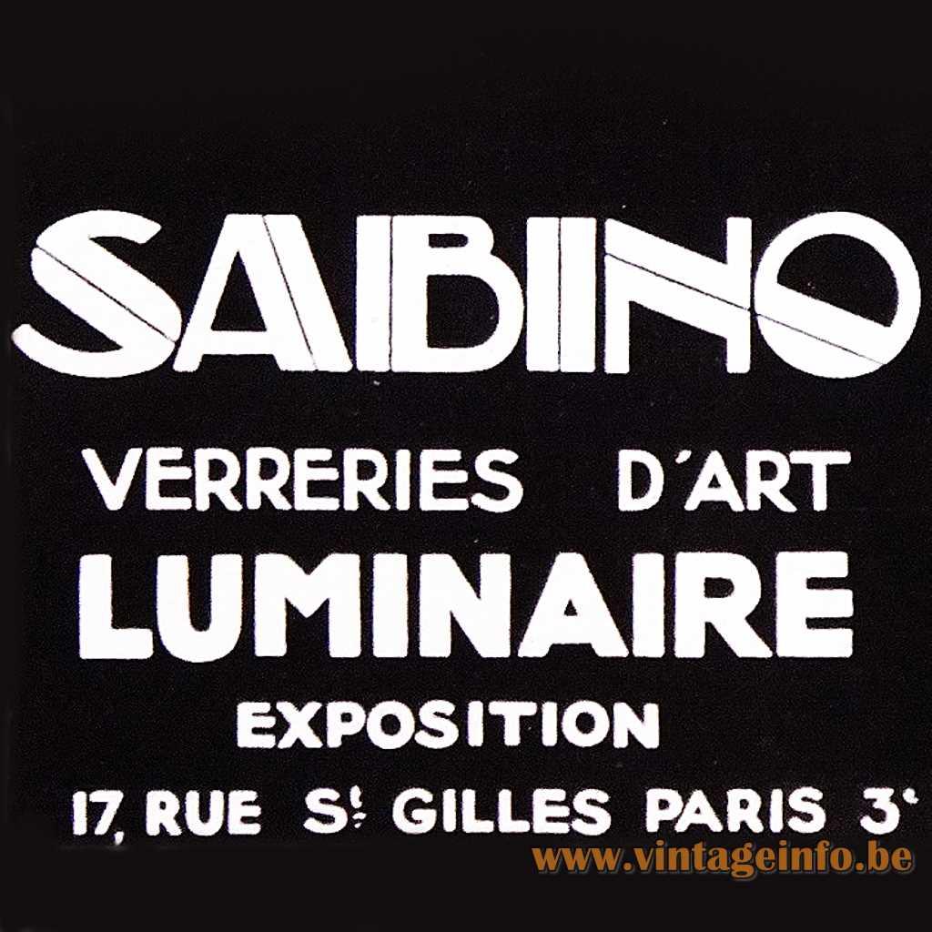 Sabino Paris France logo