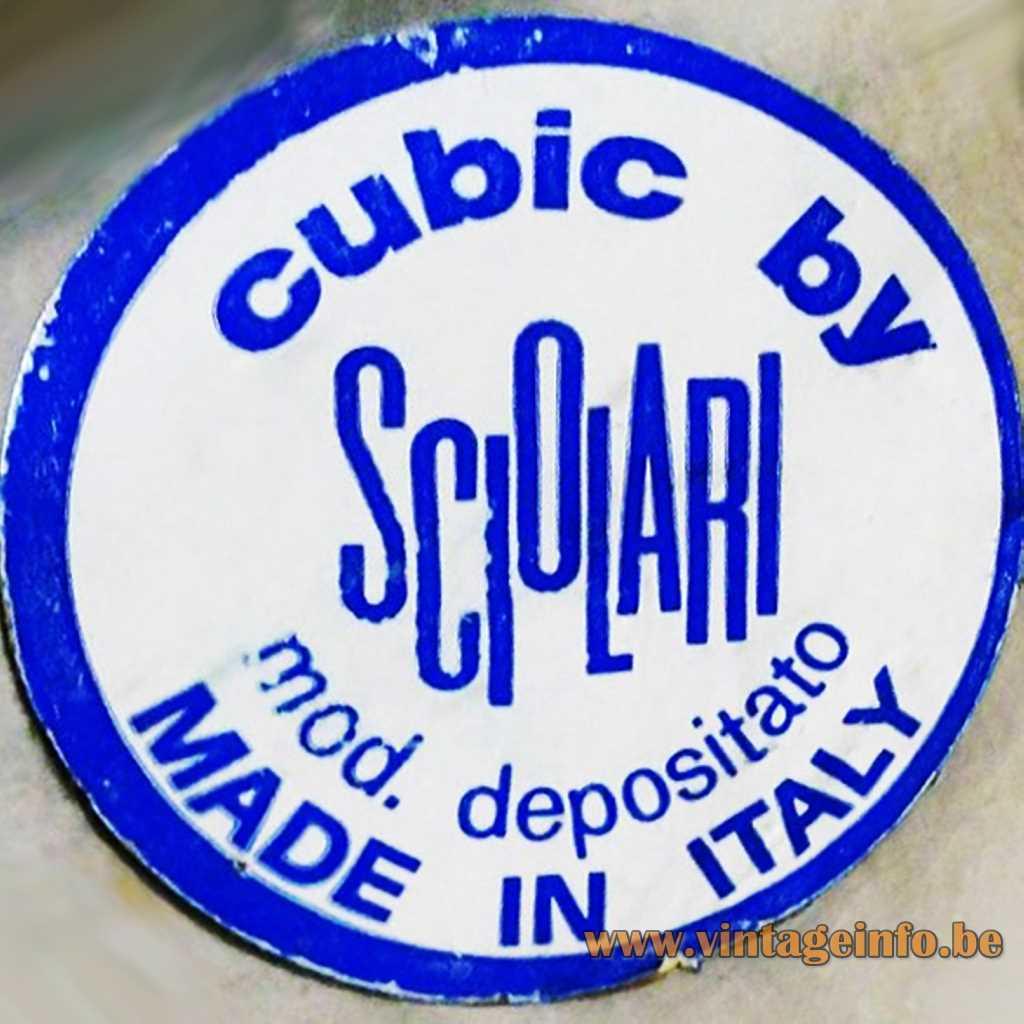 Sciolari Cubic label