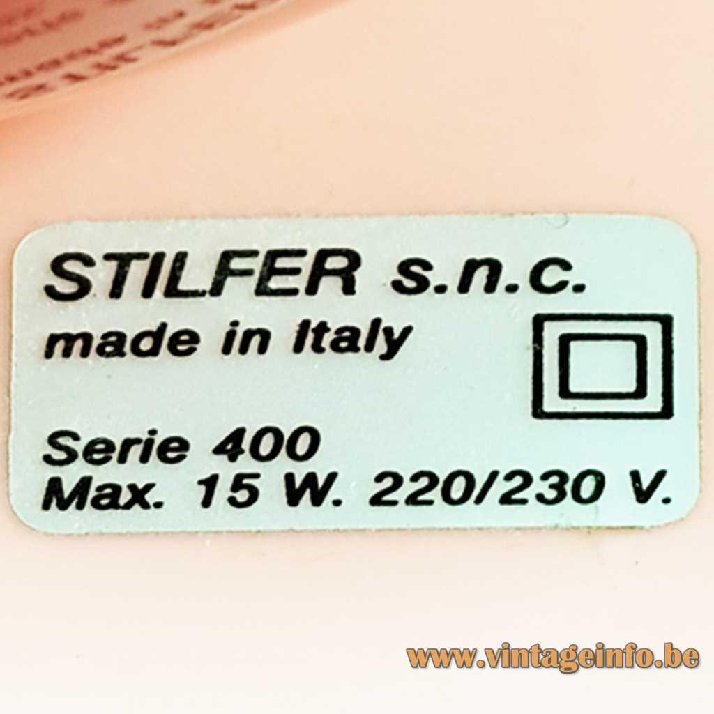 Stilfer s.n.c. Italy label