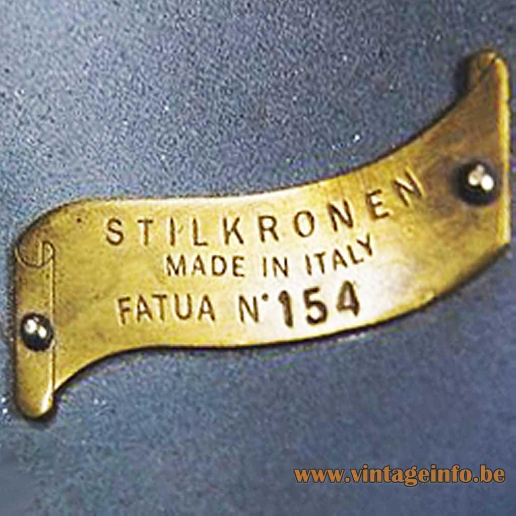Stilkronen brass label