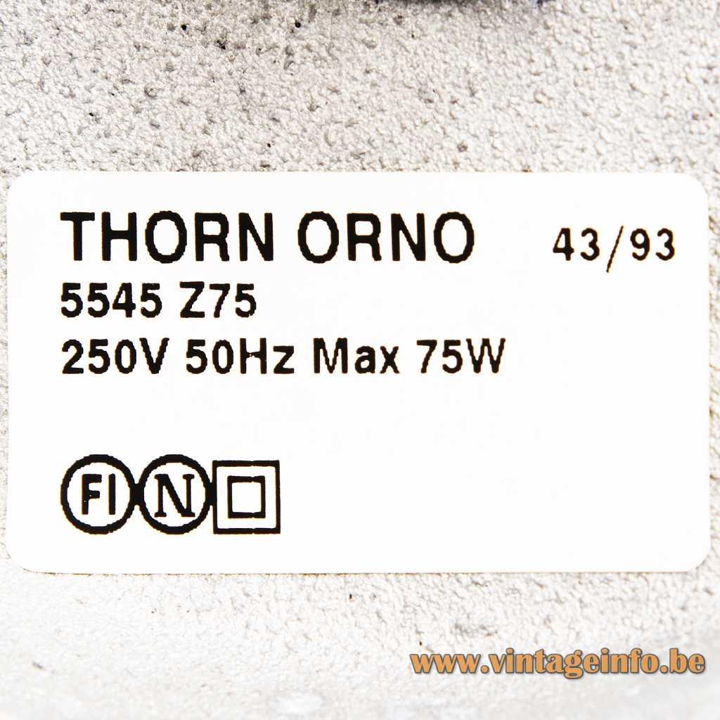 THORN ORNO Label