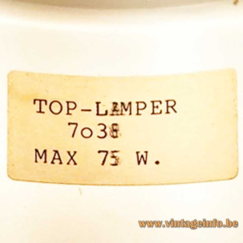 Top-Lamper label