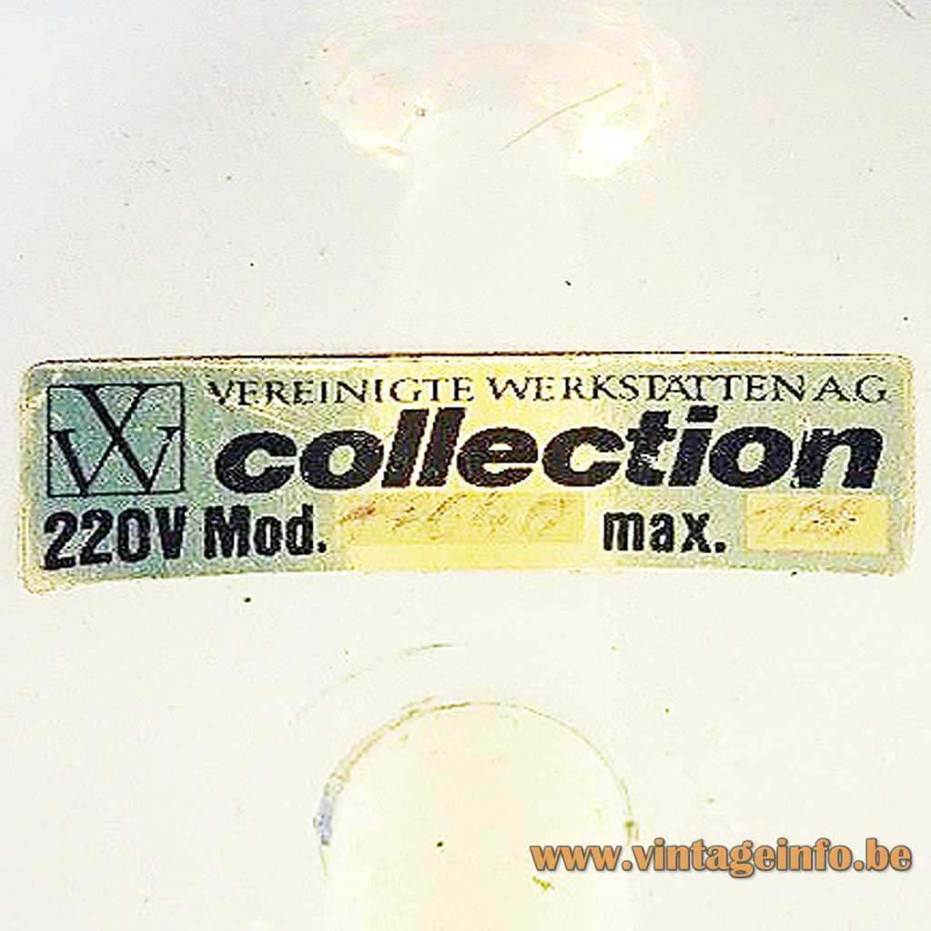 VW Vereinigte Werkstatten AG label