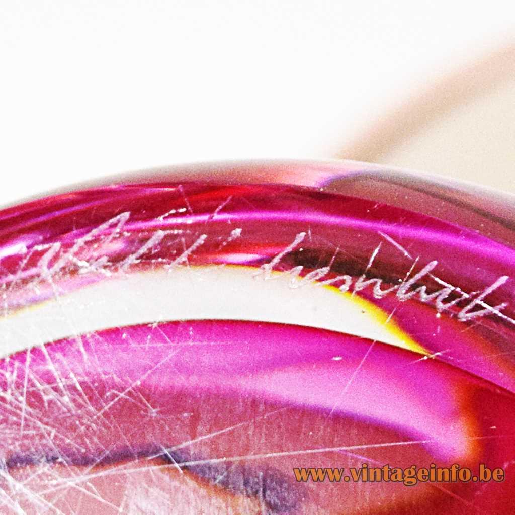 Val Saint Lambert - Val St. Lambert signature