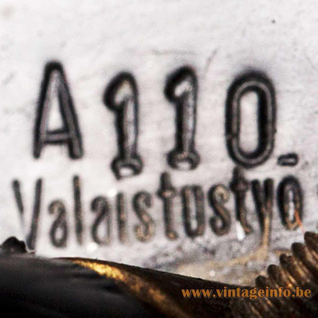 Valaistustyö Ky stamped label logo