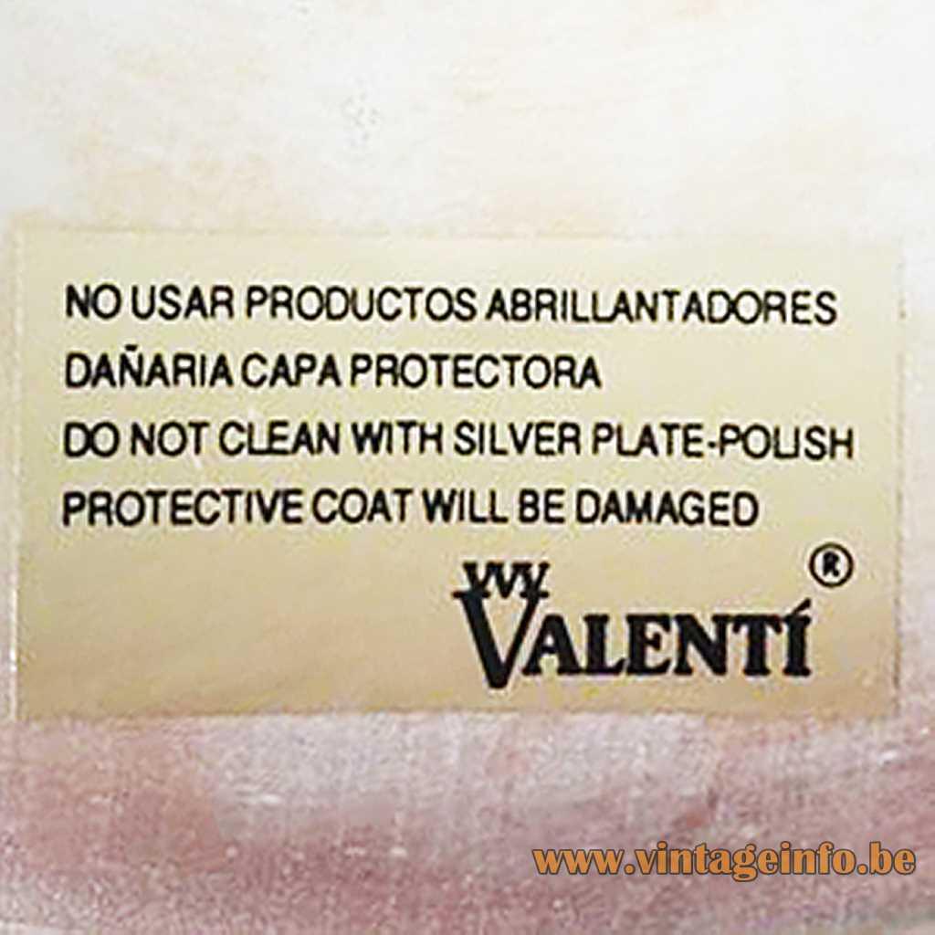 Valenti Barcelona Spain label