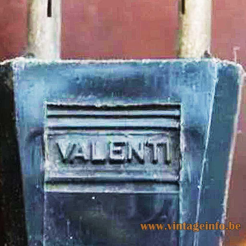 Valenti Spain pressed logo on plug