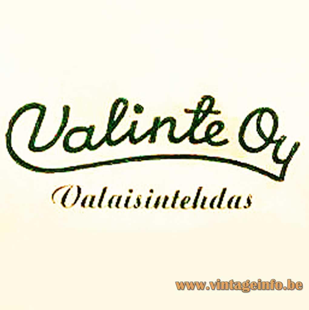 Valinte Oy Valaisinthedas logo 1954