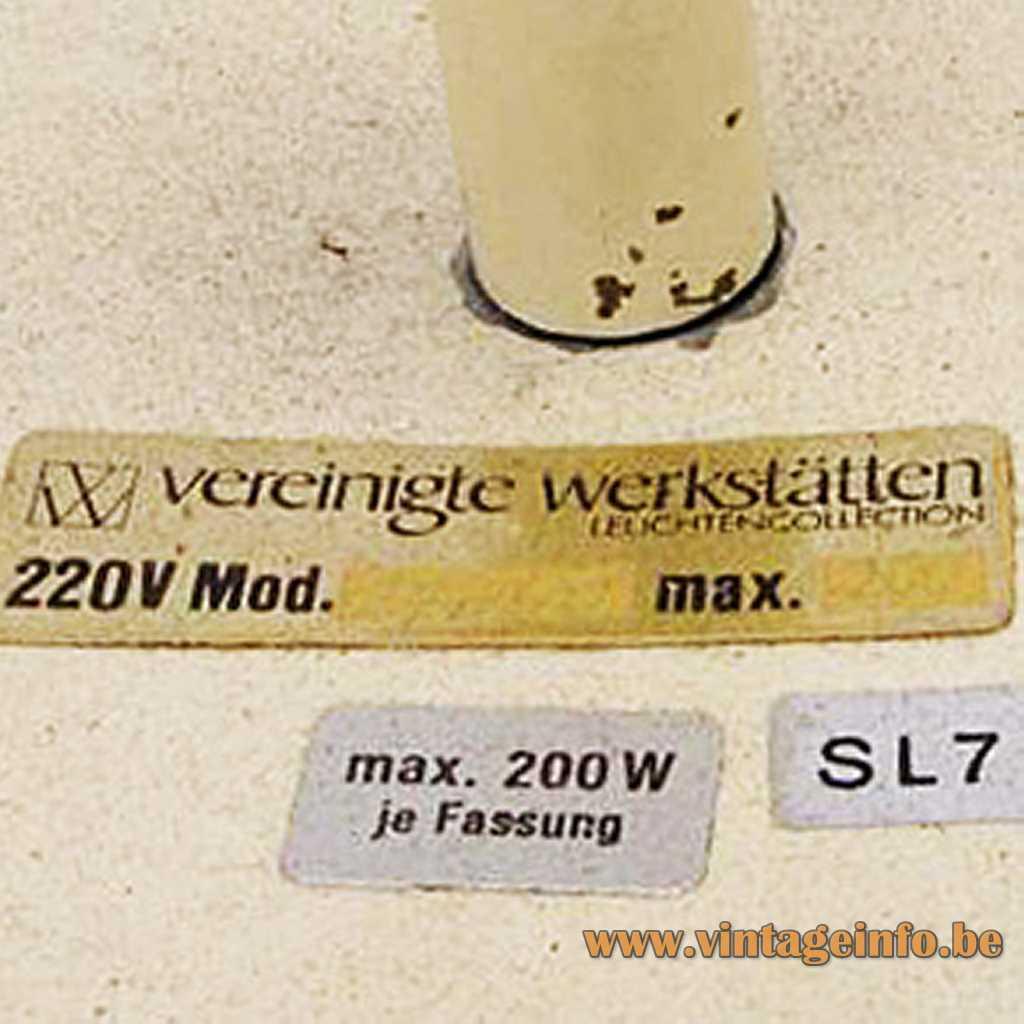 Vereinigte Werkstätten label