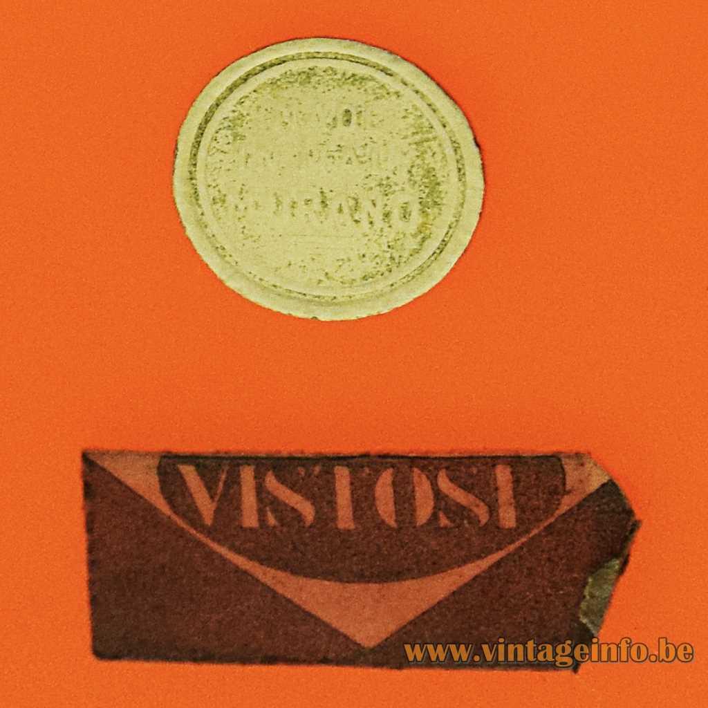 Vistosi + Murano label