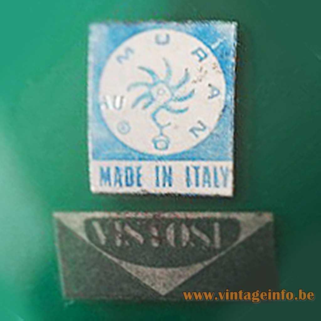 Vistosi + Murano label 1965
