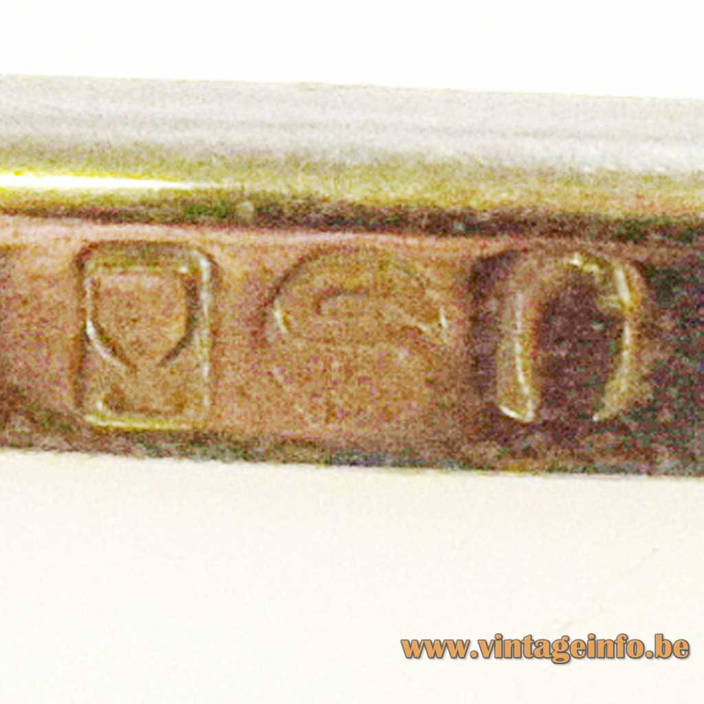 Vit Kellj pressed logos silver lampshade rim
