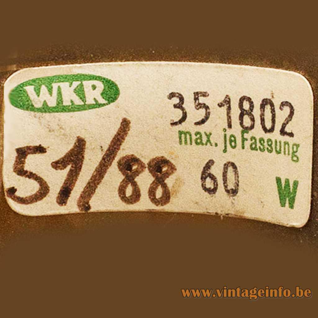 WKR Leuchten label