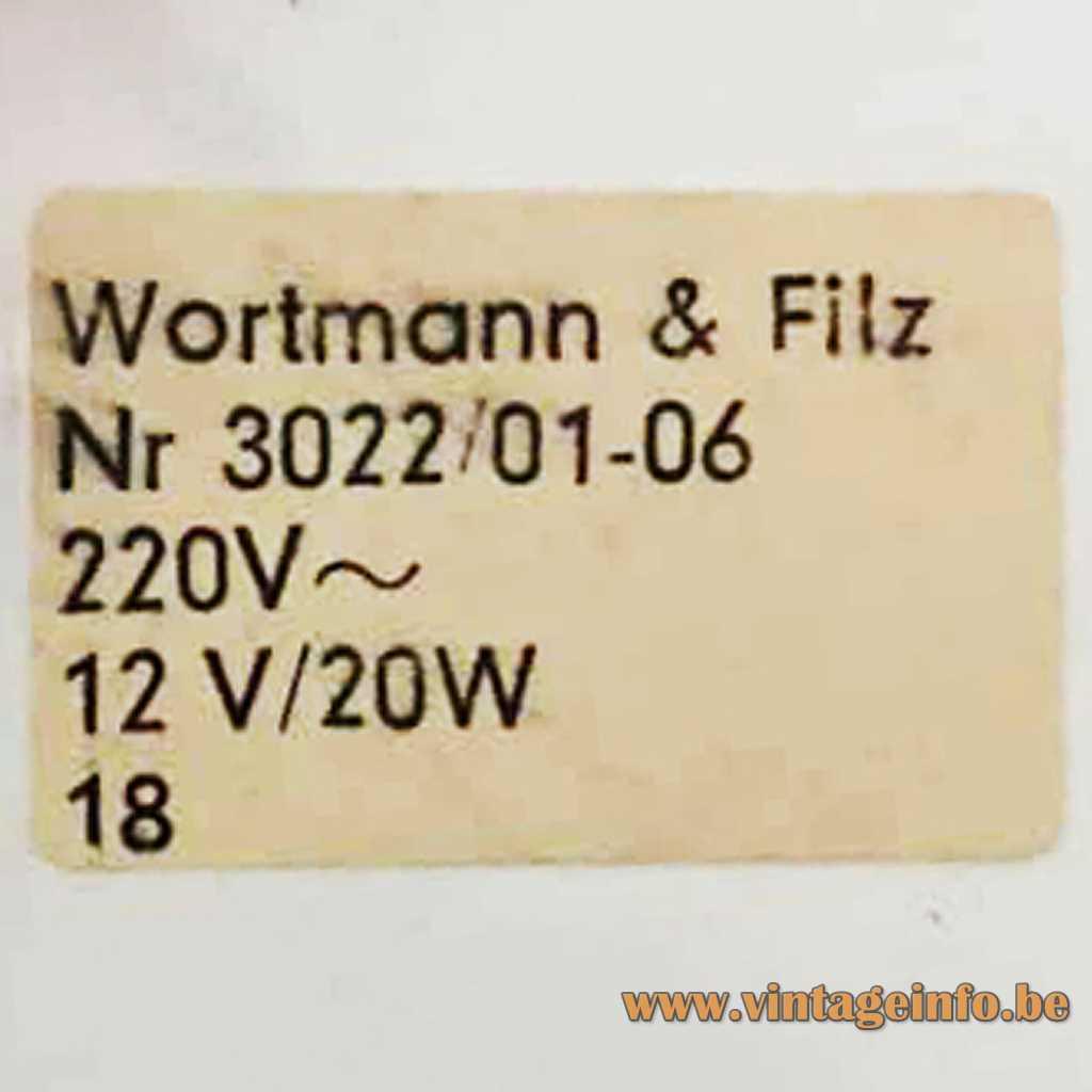 Wortmann & Filz - WOFI Leuchten label