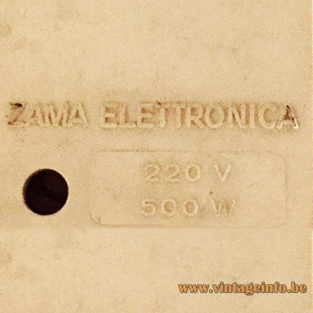 Zama Elettronica pressed logo- label