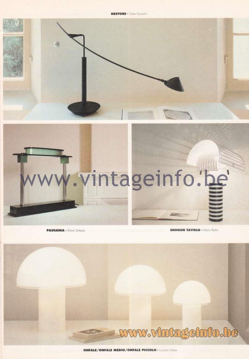 Luciano Vistosi Onfale Table Lamp - Artemide Catalogue 1992
