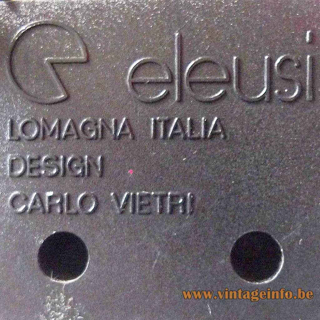 Eleusi pressed logo label