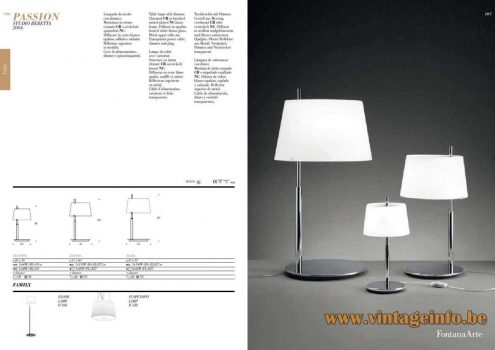FontanaArte Passion table lamp 2004 design: Studio Beretta Associati 2014 catalogue 3 sizes