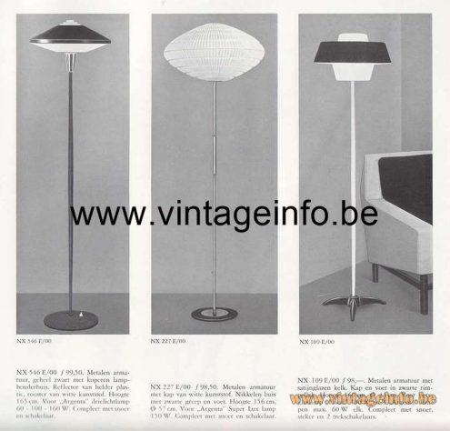 Louis Kalff NX 109 Floor Lamp - 1964 - 1965 Catalogue Picture