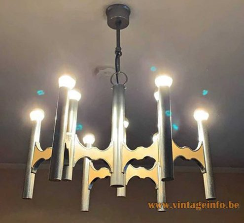 Gaetano Sciolari Orbit chandelier 1970s copy by Massive Belgium