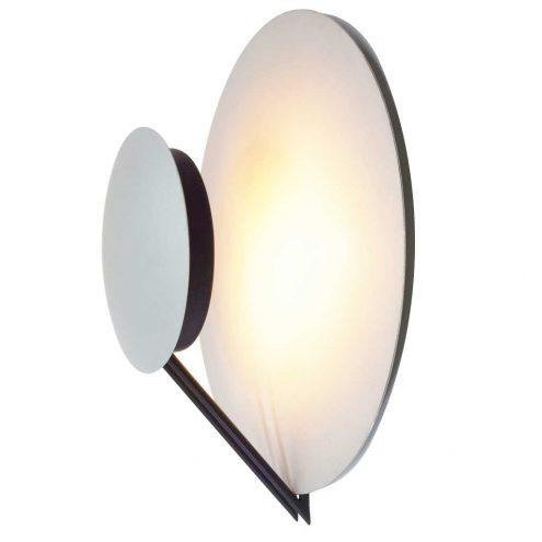 Tre Ci Luce Vega wall lamp 1985 design aluminium silver metalic discs lampshade 1980s 1990s Italy