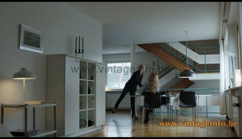 Arne Jacobsen Royal pendant lamp used as a prop in the 2018 TV series The Bridge S4E3