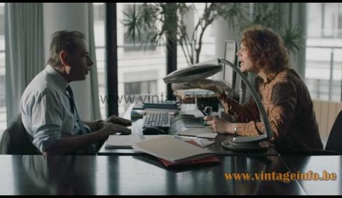 Fase Boomerang 2000 desk lamp used as a prop in the 2017 TV series Unité 42