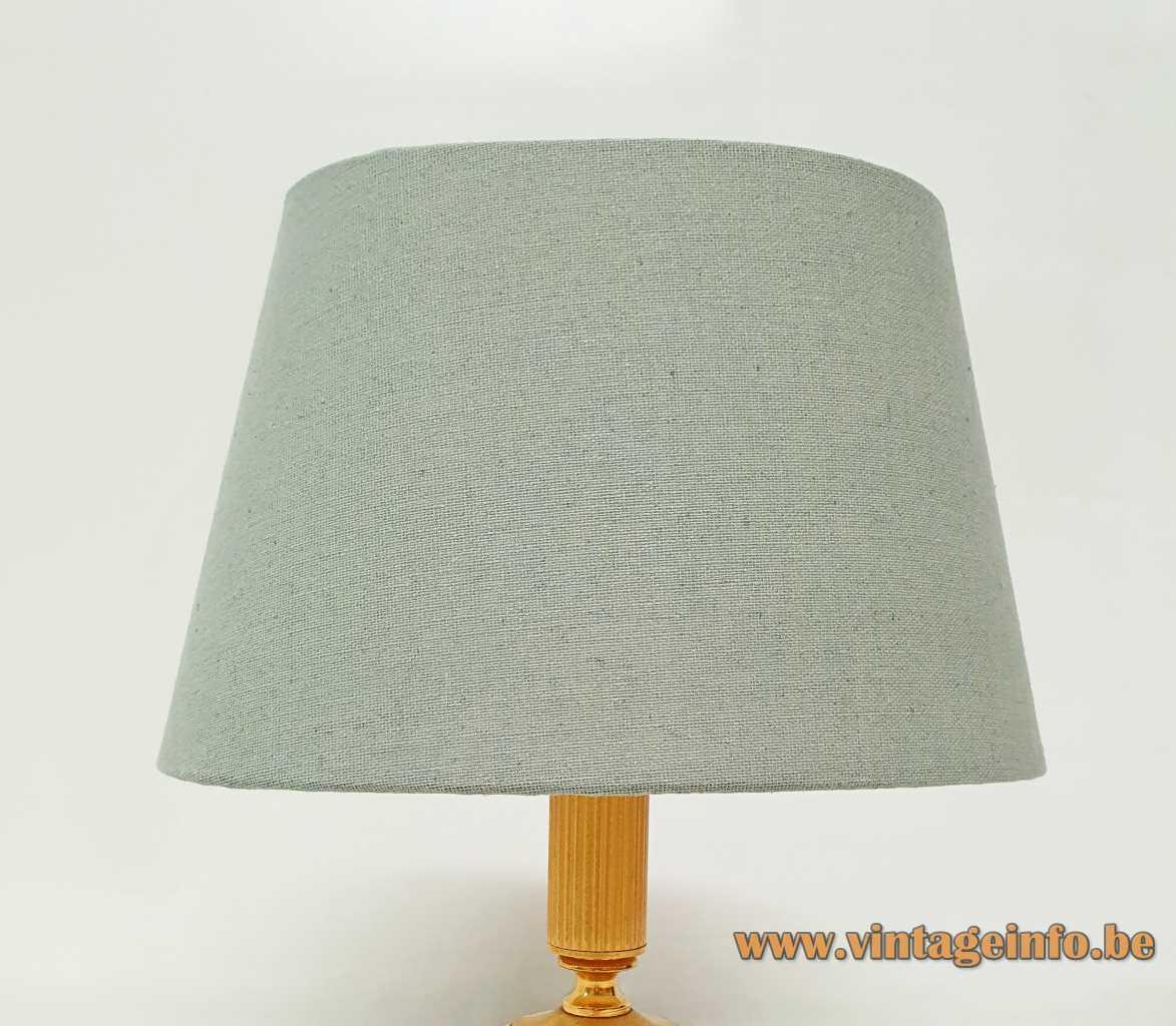 Classic brass Sciolari table lamp conical fabric lampshade 1960s 1970s Italy