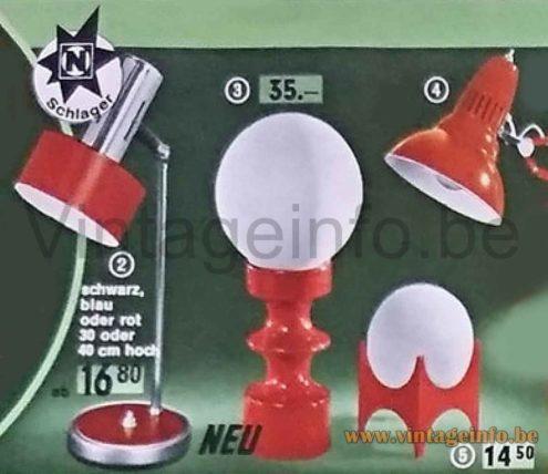 Italian Adjustable Desk Lamp - 1971 Neckermann Catalogue Photo