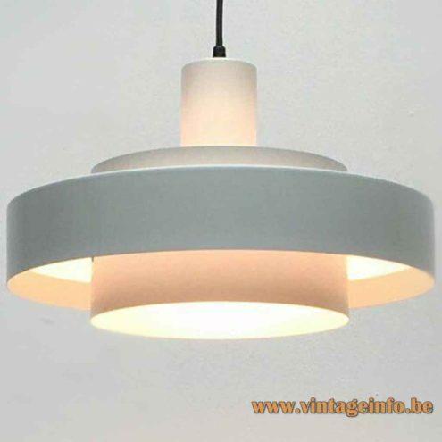 Jo Hammerborg Equator Pendant Lamp - White Version - 1968 Design, Fog & Morup, Denmark