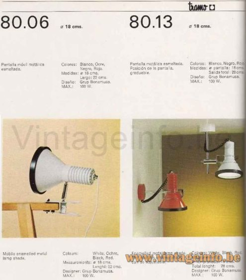 Black Tramo Clamp Lamp - Catalogue Picture