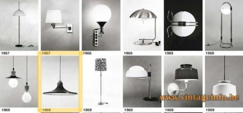 Hans-Agne Jakobsson Metalarte pendant lamp 1969 design Metalarte catalogue picture 1960s 1970s Spain