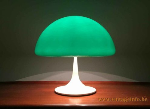 Harvey Guzzini Toledo Table Lamp - Green & White Version