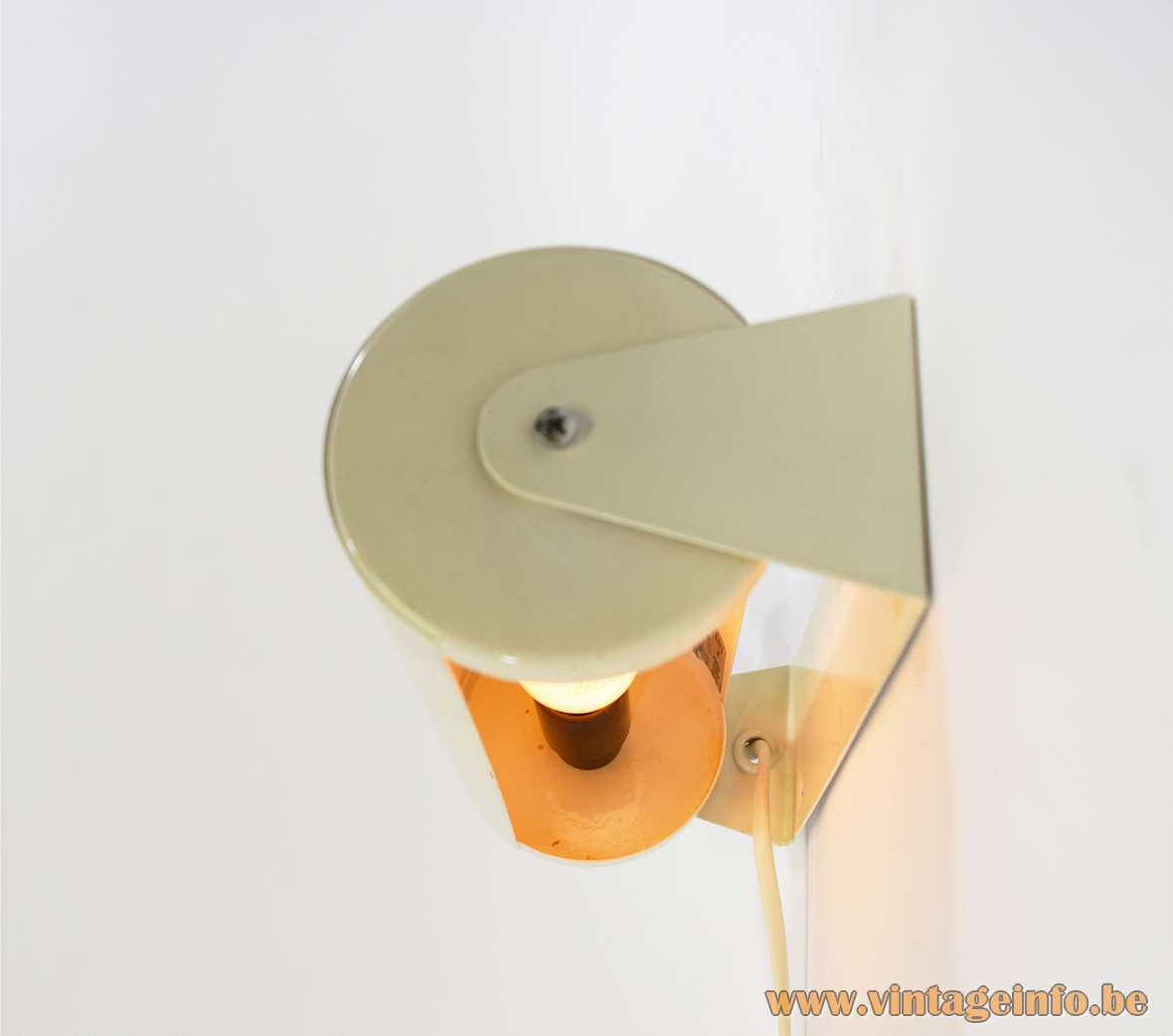 IKEA Lod wall lamp round white metal cylinder tubular lampshade 1980s 1990s 2000s E14 socket Sweden