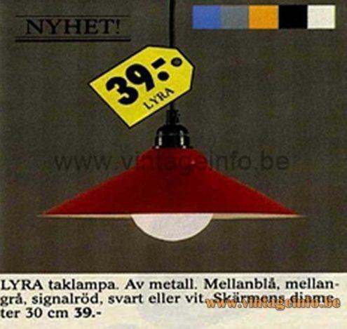 IKEA Lyra Pendant Lamp - 1987 IKEA Catalogue Picture