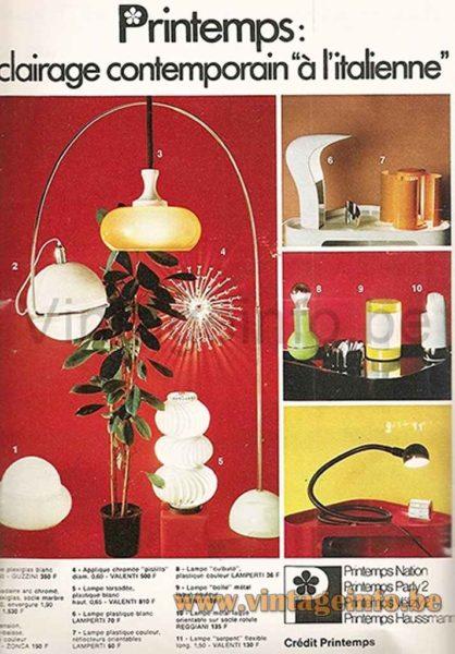 Studio D.A. Lamperti Table Lamp - La Maison De Marie-Claire Magazine 1972